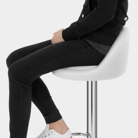 Glee Bar Stool White Seat Image