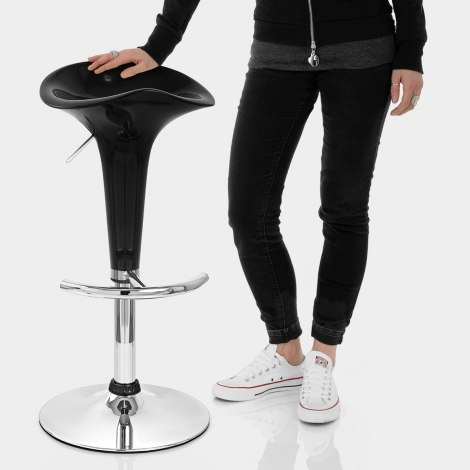 Gloss Coco Bar Stool Black Features Image