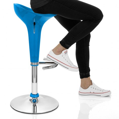 Gloss Coco Bar Stool Blue Seat Image