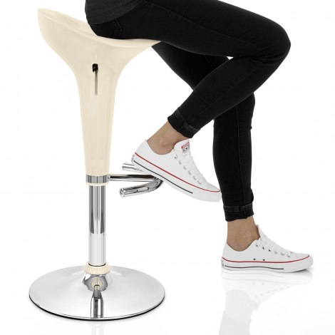 Gloss Coco Bar Stool Cream Seat Image