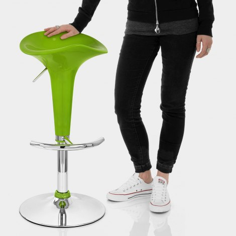 Gloss Coco Bar Stool Green Features Image