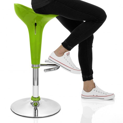 Gloss Coco Bar Stool Green Seat Image