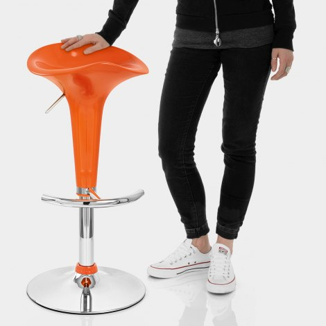Gloss Coco Bar Stool Orange Features Image