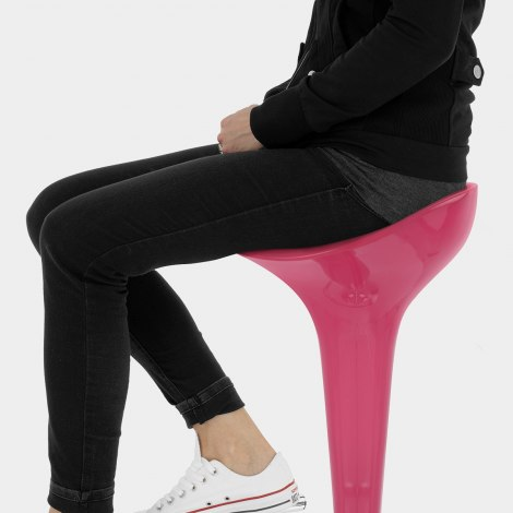Gloss Coco Bar Stool Pink Seat Image