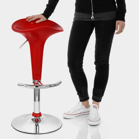Gloss Coco Bar Stool Red Features Image