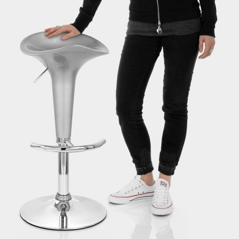 Gloss Coco Bar Stool Silver Features Image