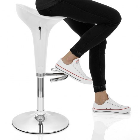 Gloss Coco Bar Stool White Seat Image