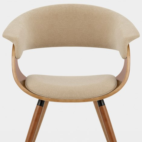 Grafton Dining Chair Walnut & Beige Seat Image