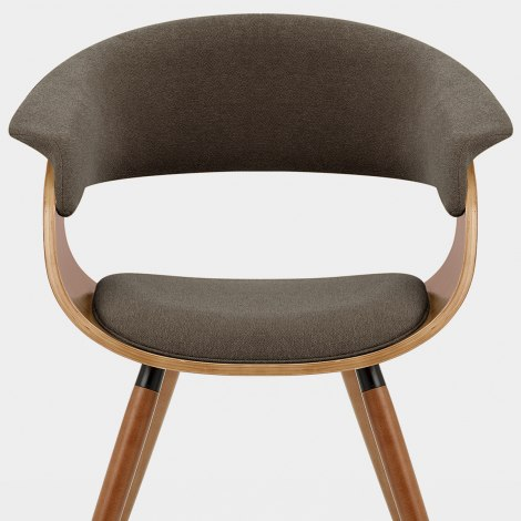 Grafton Dining Chair Walnut & Brown Seat Image