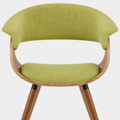 Grafton Dining Chair Walnut & Green Seat Image