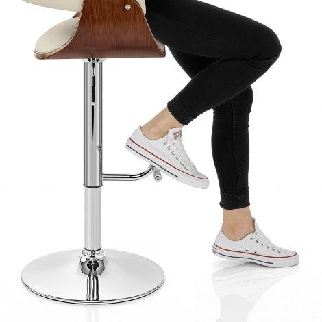 Grafton Stool Walnut & Cream Seat Image