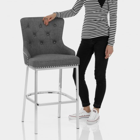 Grange Bar Stool Charcoal Fabric Features Image