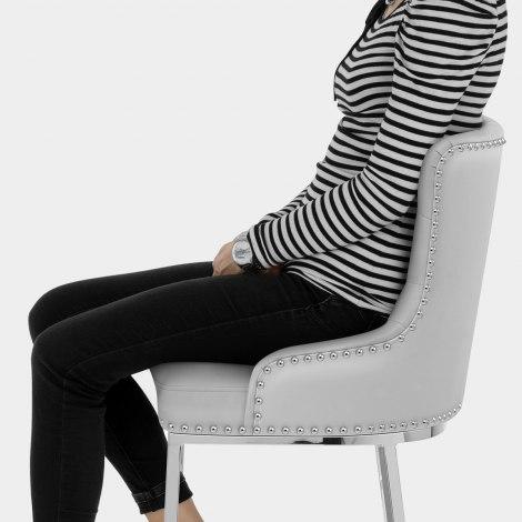 Grange Bar Stool Grey Leather Seat Image