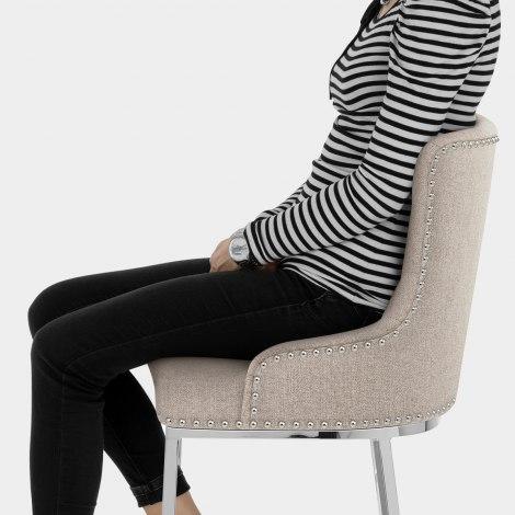 Grange Bar Stool Tweed Fabric Seat Image