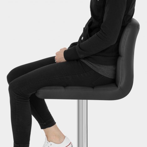 Grid Bar Stool Black Seat Image