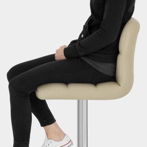 Grid Bar Stool Cream Seat Image