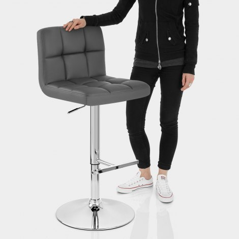 Grid Bar Stool Grey Features Image