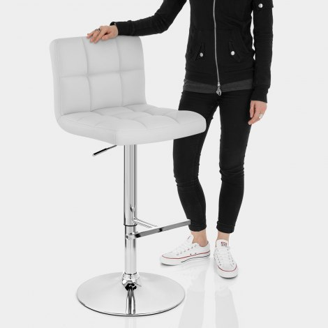Grid Bar Stool White Features Image