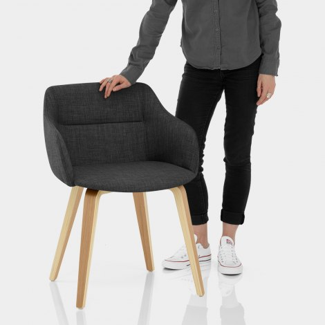 Harley Dining Chair Charcoal Fabric Features Image