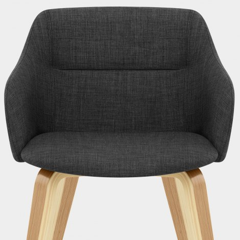 Harley Dining Chair Charcoal Fabric Seat Image