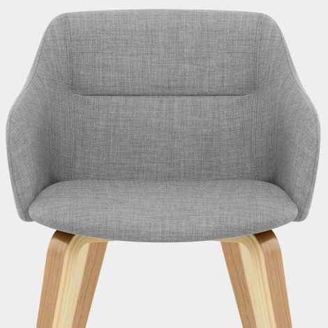 Harley Dining Chair Light Grey Fabric Seat Image