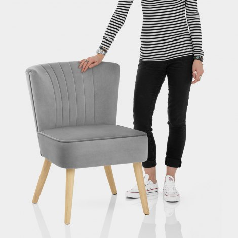 Harmony Dining Chair Grey Velvet Features Image
