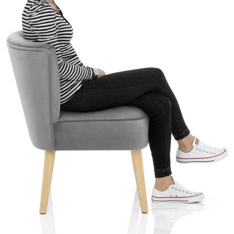 Harmony Dining Chair Grey Velvet Frame Image