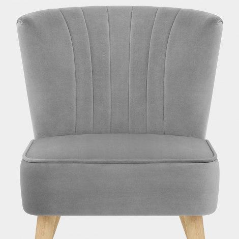 Harmony Dining Chair Grey Velvet Seat Image