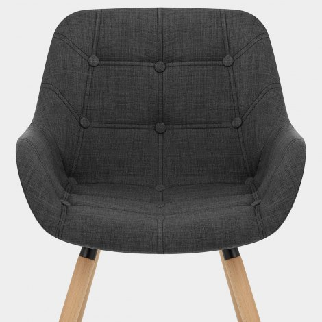 Harris Dining Chair Charcoal Fabric Seat Image
