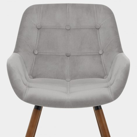 Harris Dining Chair Grey Velvet Seat Image