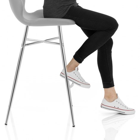 Haze Bar Stool Grey Seat Image