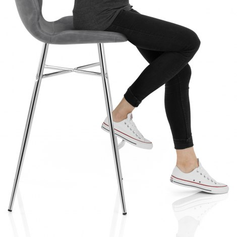 Haze Bar Stool Grey Frame Image