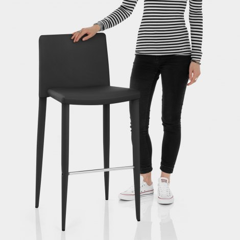 Healey Kitchen Stool Black Features Image