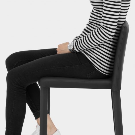 Healey Kitchen Stool Black Seat Image
