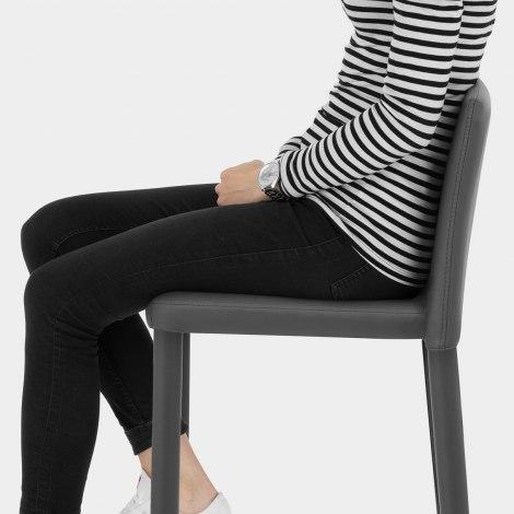 Healey Kitchen Stool Dark Grey Seat Image