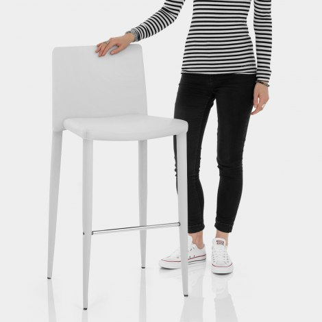 Healey Kitchen Stool White Features Image