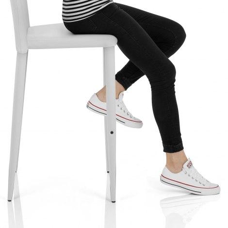 Healey Kitchen Stool White Seat Image