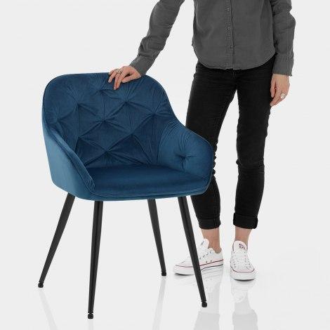 Henderson Chair Blue Velvet Features Image