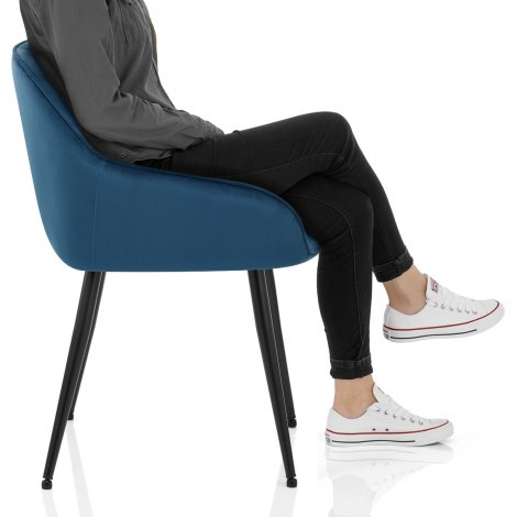 Henderson Chair Blue Velvet Frame Image