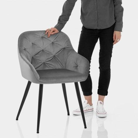 Henderson Chair Grey Velvet Features Image