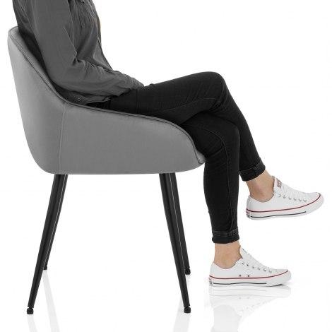Henderson Chair Grey Velvet Frame Image