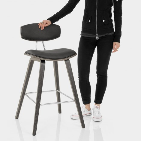 Henley Wooden Stool Charcoal Features Image
