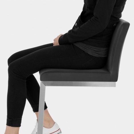 High Ace Brushed Stool Black Seat Image