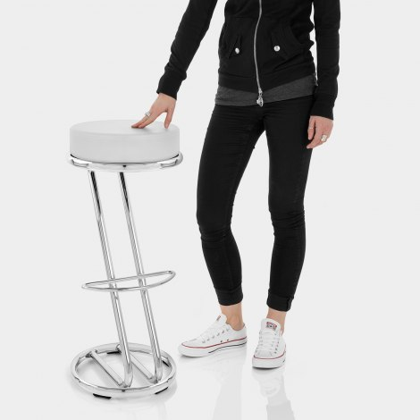 High Zed Bar Stool White Features Image