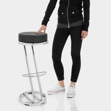 High Zed Bar Stool Black Features Image
