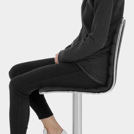 Hiline Bar Stool Black Seat Image