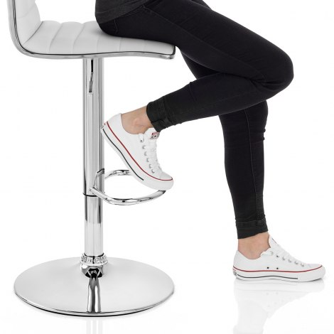 Hiline Bar Stool White Frame Image