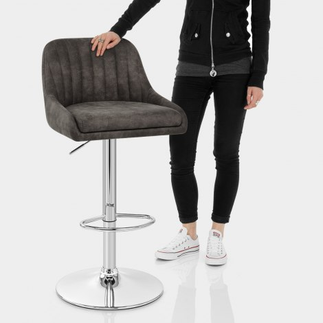 Hobart Bar Stool Charcoal Features Image