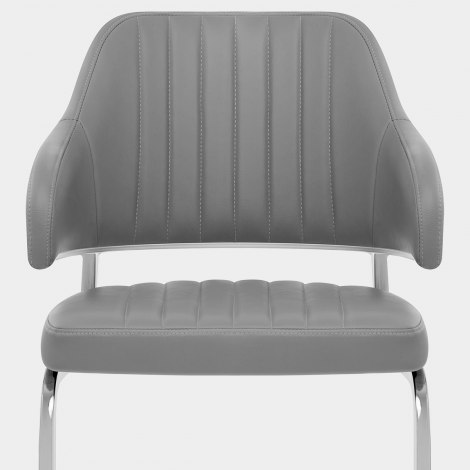 Horizon Chair Grey Leather Seat Image
