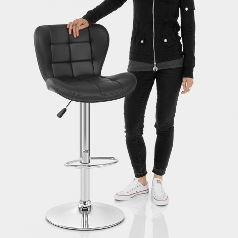 Houston Bar Stool Black Features Image